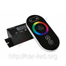Контролер однозональный RF RGB 18А Black (Touch)