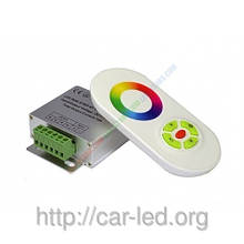 Контролер однозональный RF RGB 18А White (Touch)