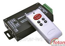 Контролер однозональный RF RGB DMX 12А (6 buttons)