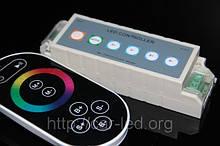 Контролер однозональный RF RGB 9А Black (Touch)