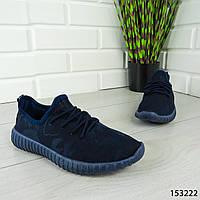 """Мокасины женские, синие """"Hency"""" текстильные, кроссовки женские, кеды женские, повседневная обувь"""
