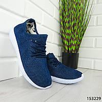 """Мокасины женские, синие """"Mocky"""" текстильные, кроссовки женские, кеды женские, повседневная обувь 943243143"""