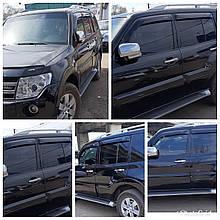 Дефлектори вікон (вітровики) клеючі / накладні Д/Mitsubishi Pajero Wagon 5D 2000-> 4шт (ANV-AIR)