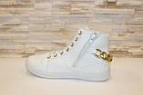 Білі черевички жіночі ланцюжка Д351, фото 2