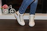 Білі черевички жіночі ланцюжка Д351, фото 5