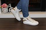 Білі черевички жіночі ланцюжка Д351, фото 6