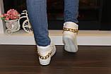 Білі черевички жіночі ланцюжка Д351, фото 7