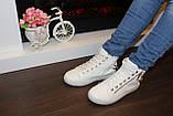 Білі черевички жіночі ланцюжка Д351, фото 8