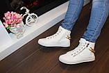 Білі черевички жіночі ланцюжка Д351, фото 9