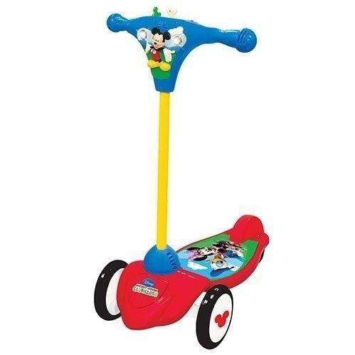Детский самокат трехколесный скутер Kiddieland Микки-Маус Красно-синий 048512