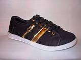 Мокасины черные с золотом Т356, фото 8