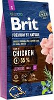 Brit Premium by Nature Junior Корм для щенков и молодых собак мелких пород S 8 кг