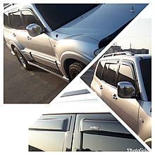 Дефлектори вікон (вітровики) Mitsubishi Pajero Wagon 5D 2000-> 4шт (HIC)