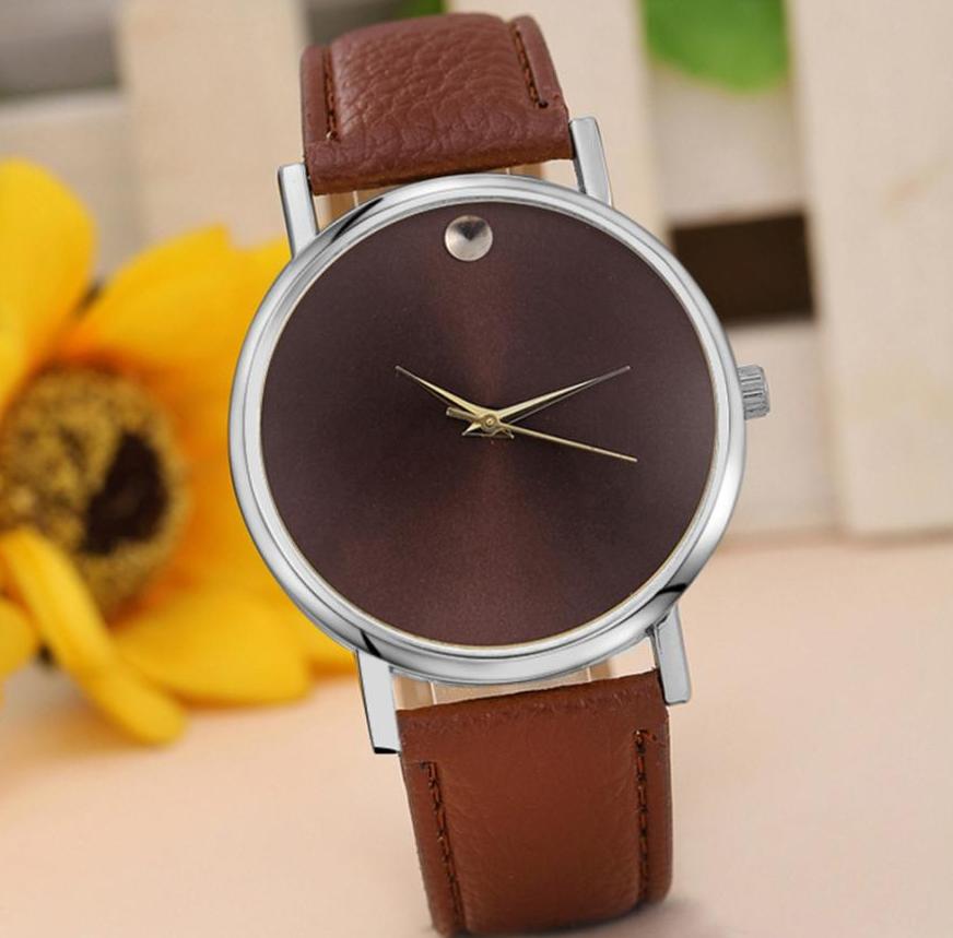 Наручные часы женские с коричневым ремешком код 114