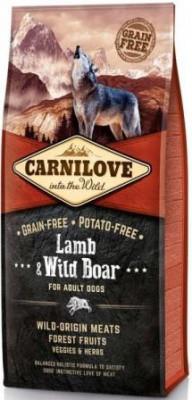 Сухой корм для собак Carnilove (Карнилав) Adult с мясом ягненка и дикого кабана 12 кг