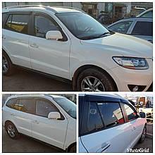 Дефлекторы окон (ветровики) Hyundai Santa Fe 2006-2012 4шт (HIC)