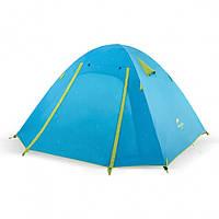 Палатка четырехместная Naturehike с алюминиевыми дугами синяя