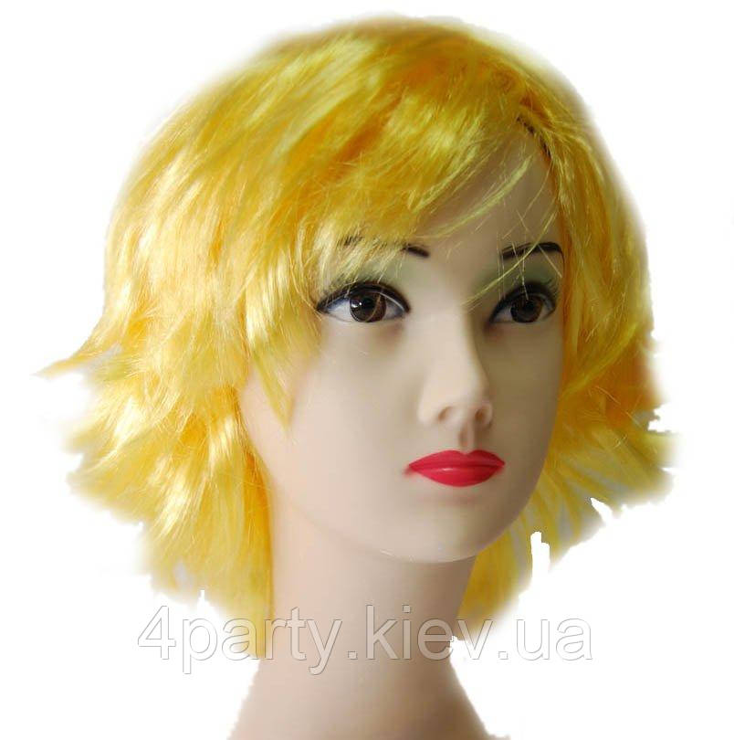 Парик Каре-каскад (желтый) 220216-240