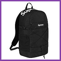 Рюкзак Supreme 2016 SS Backpack Black Logo Box