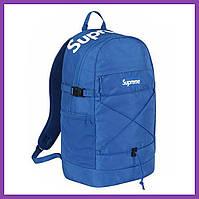 Рюкзак Supreme 2016 SS Backpack Blue Logo Box