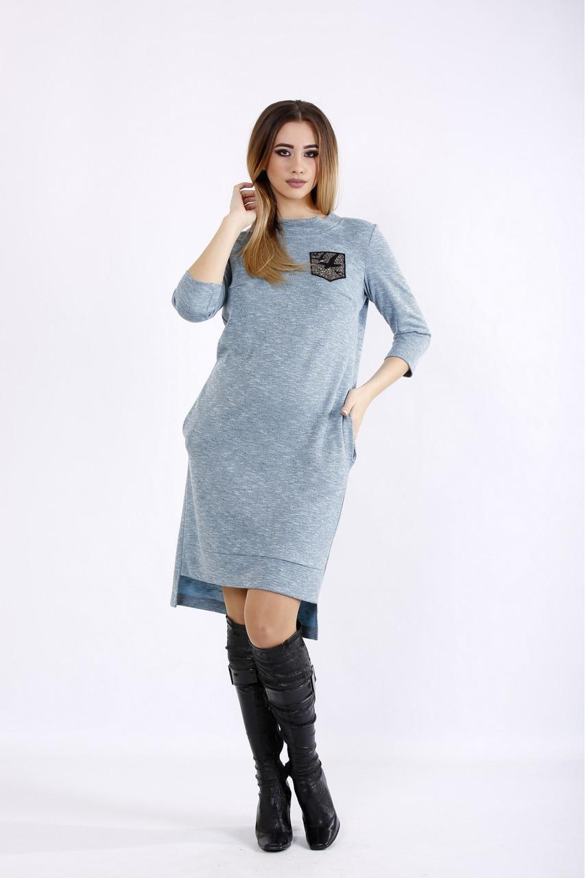 01086-1 | Бірюзове плаття з ангори