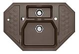 Гранитная угловая мойка Alveus SENSUAL 60 G03M chocolate metalic 90*61, фото 2