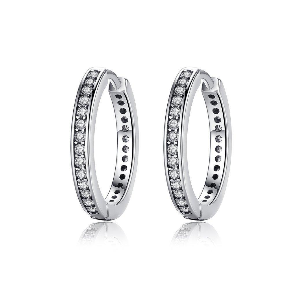 Серьги-кольца  серебряные