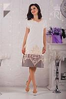 Женское летнее нарядное платье вышивка