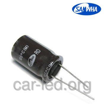 470mkf - 100v  RD 16*25  SAMWHA, 105°C