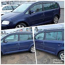 Дефлекторы окон (ветровики) VW Touran 2004-2010 5D 4шт (HIC)