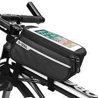 """Велосипедная сумка на раму для смартфона до 7""""дюймов B-SOUL черная, фото 1"""