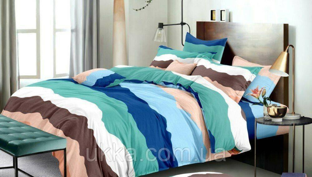 Двуспальное постельное бязь 100% хлопок Полоса