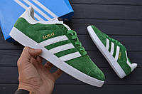 Кроссовки в стиле Adidas Gazelle Green мужские