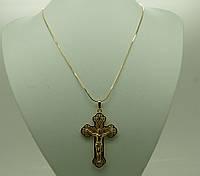 Позолоченный кулон большой крест Xuping, опт. 15