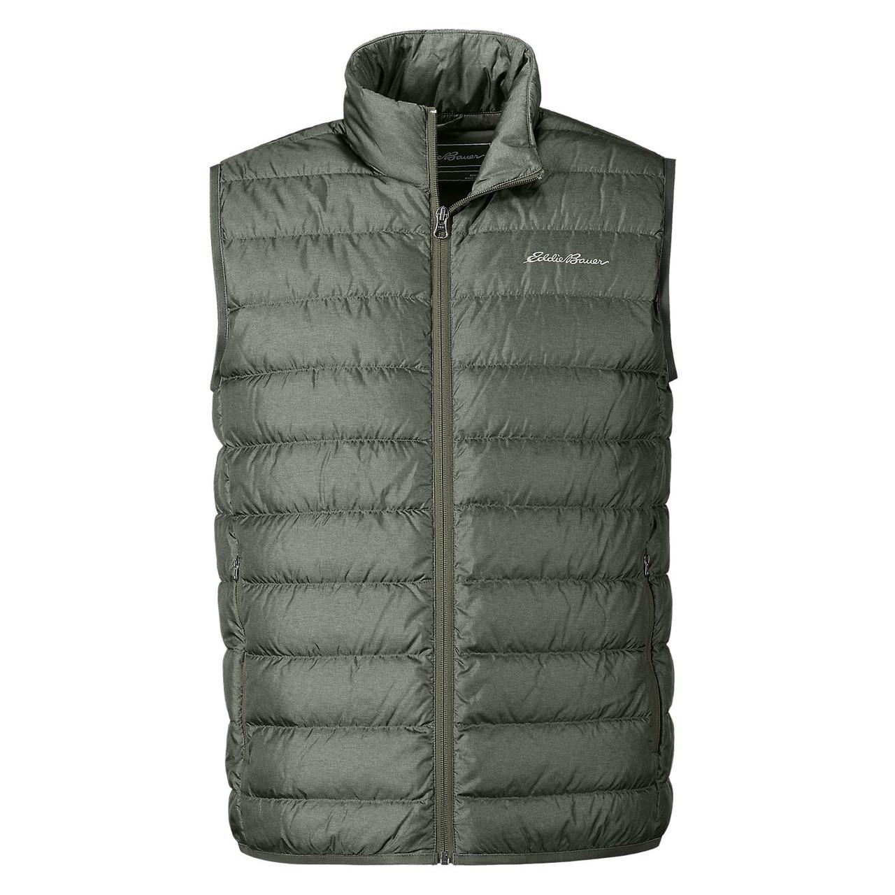 Мужская жилетка дутая Eddie Bauer Men CirrusLite Down Vest HTR OLIVE