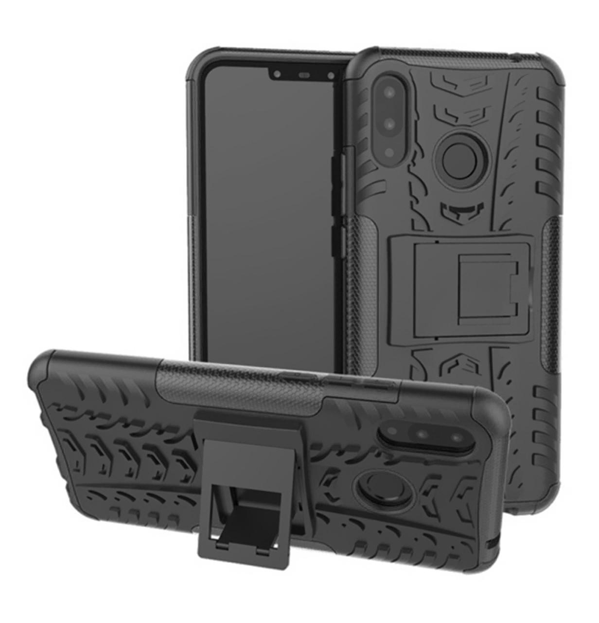 Противоударный двухслойный чехол Shield для Huawei P Smart Plus / Nova 3i Black