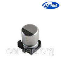 10mkf - 35v SMD электролит SC 4*5,3 (85°С) Samwha