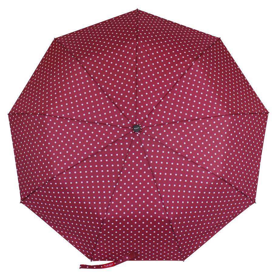 Зонт складаний de esse 3219 напівавтомат Горошки