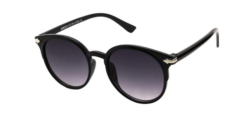 Черные очки от солнца детские круглой формы Reasic