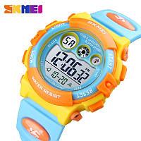 Водонепроницаемые ударопрочные оригинальные детские наручные часы Skmei 1451YB на полиуретановом ремешке