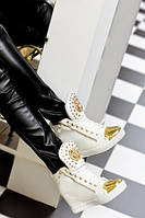 Ботиночки сникерсы белые Лев Д370 р 38, фото 1