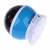 Вращающийся проектор звездного неба, ночной светильник, Star Master Dream Rotating, цвет - синий, Обертається проектор зоряного неба, нічний
