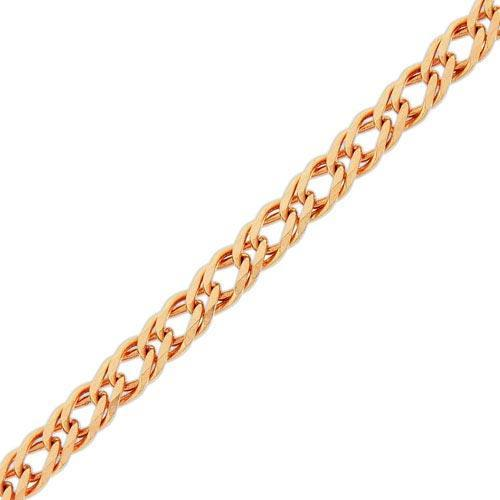 Золотая цепочка ДВОЙНОЙ РОМБ 2.5 мм, размер 45 см
