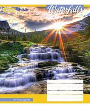 """Тетрадь школьная 36 листов линия """"Waterfalls"""" 1 Вересня /5 штук/"""