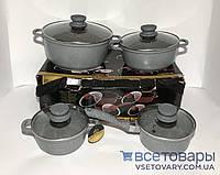 Набор кастрюль Edenberg Eb-9181, 3 кастрюли и ковш, фото 1