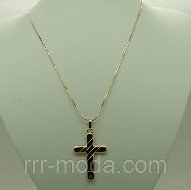 крест позолоченный с цепочкой xuping оптом