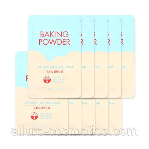 Etude house baking powder bb deep cleansing foam пенка для умывания 4мл (пробник)