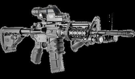 Приклад FAB для M4 с держателем магазина, черный (без буферной трубы), фото 2