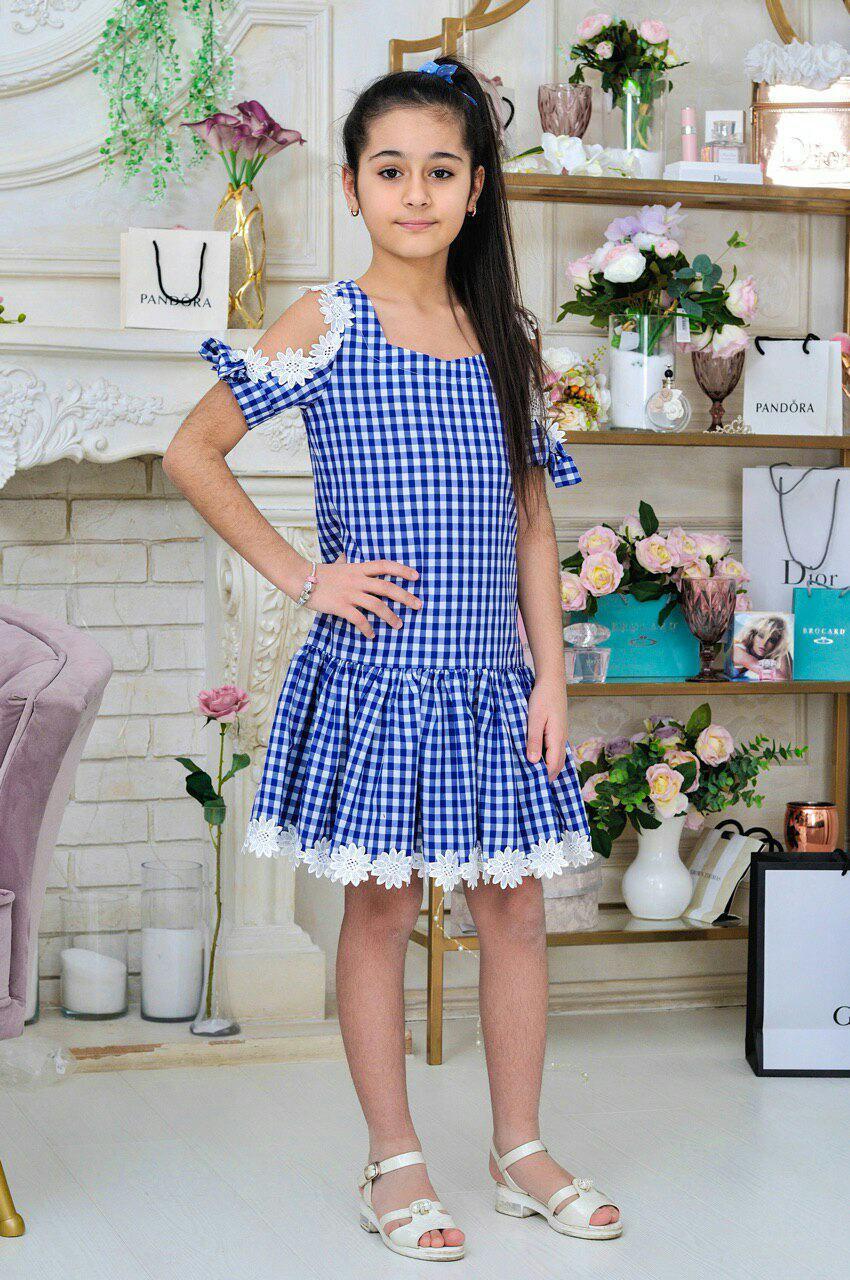 4738b384011884a Летнее платье для девочки с открытыми плечами 6-14 лет оптом ...