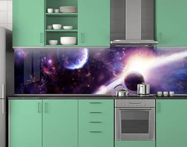 Кухонный фартук пластиковый 62х205 см (под заказ любой размер)
